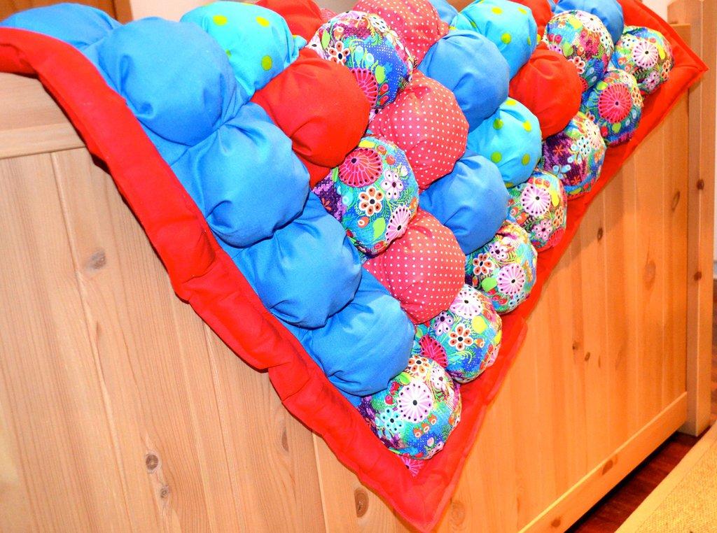 Coperta bubble quilt multicolore