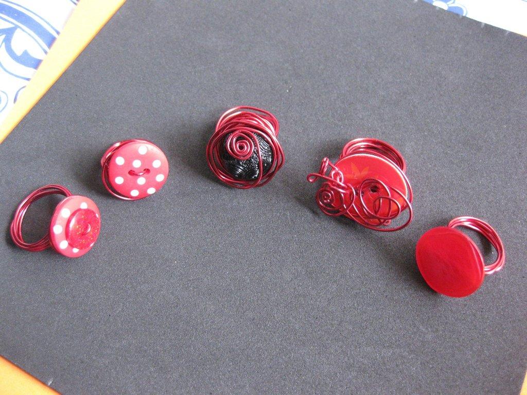 Anelli in alluminio - Rouge