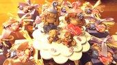 OFFERTA  - TOP CAKE e 24 BOMBONIERE GIA CONFEZIONATE  - FOLLETTE GEMELLE magneti  - fimo - personalizzabile