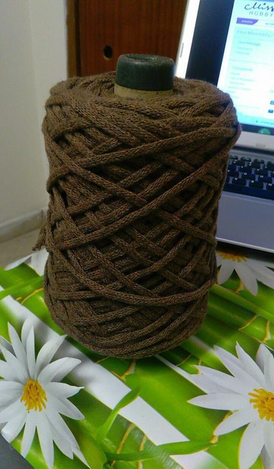 cordino lanato marrone chiaro