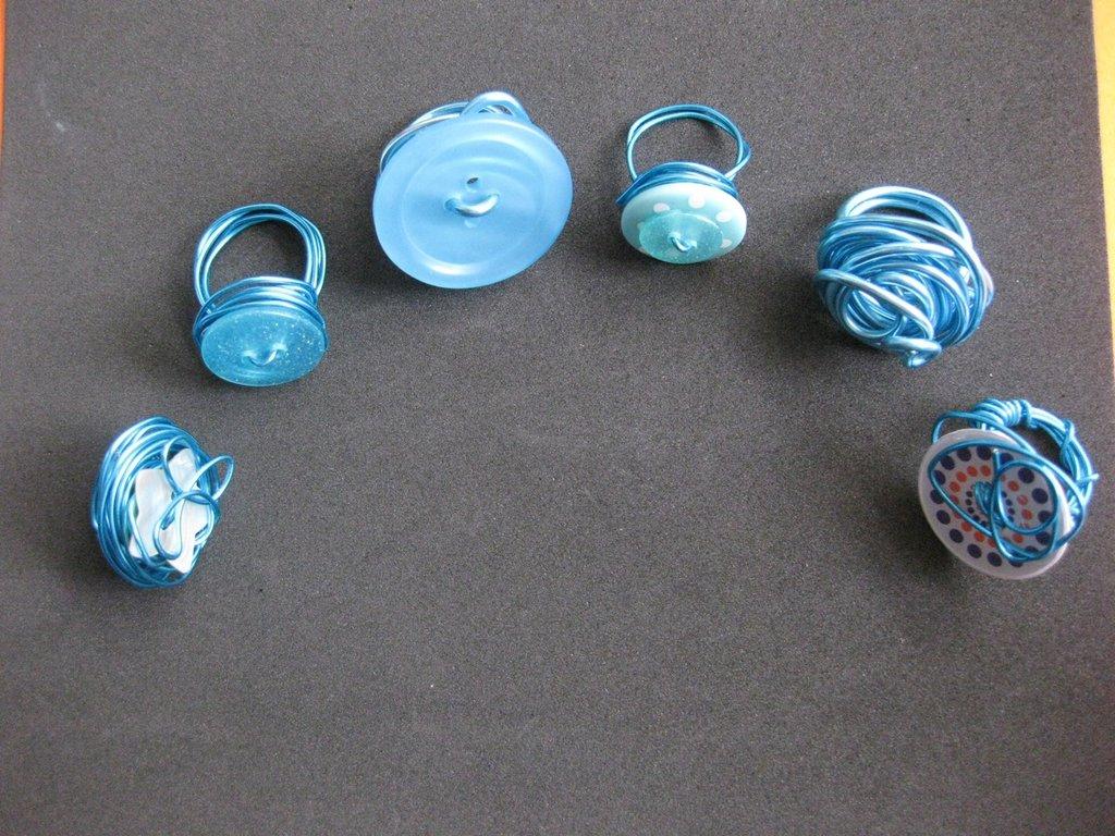 Molto Anelli in alluminio - Blu - Gioielli - Anelli - di CreativaMente  JV92