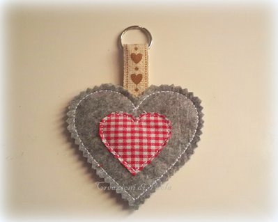 Portachiavi cuore collezione romantica country