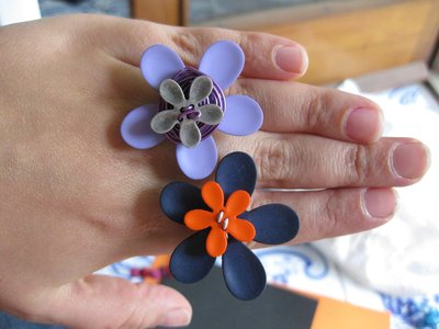 Anelli in alluminio - Flower power