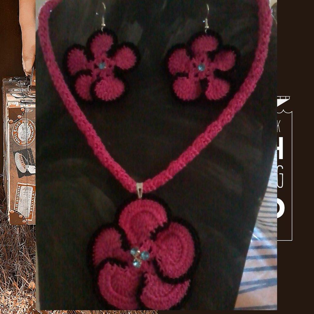 completo collana e orecchini,papure,accessori