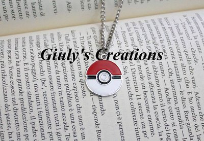 Collana sfera Pokè POKEMON Pokeball Pikachu Ash Ketchum cattura Pokèmon Anime