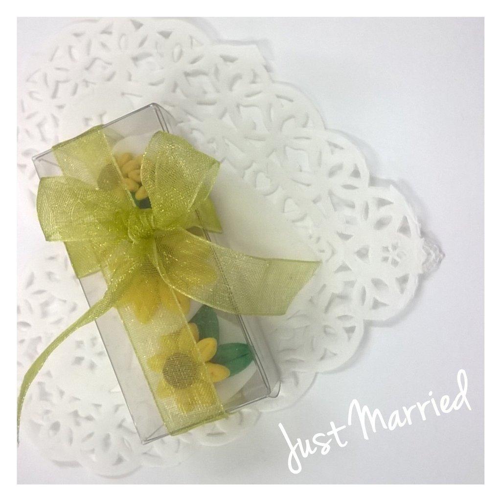 Confettata prima comunione, confetti decorati, cresima,girasoli