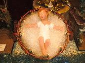 Presepe, Gesù bambino in gesso di 30 cm !!!