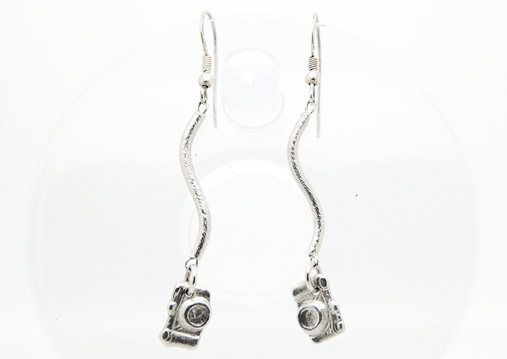 Orecchini pendenti con ciondoli reflex in puro argento
