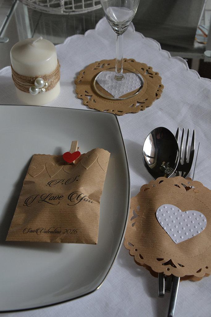 Allestimento tavola shabby chic san valentino feste decorazioni su misshobby - Decorazioni tavola san valentino ...