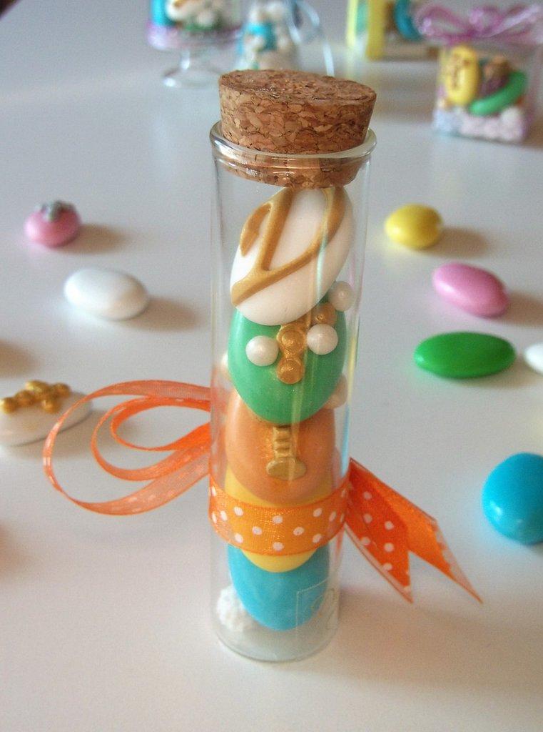 Cilindro Comunione e Cresima di  confetti decorati