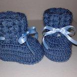 Scarpine di lana  neonato lavorati a mano