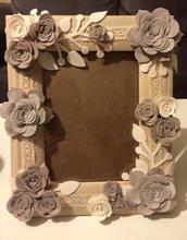 Portafoto legno con fiori
