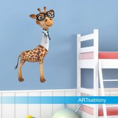 Adesivi colorati  giraffa (3488f)