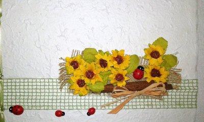 libro ospiti nozze in carta cotone con girasoli