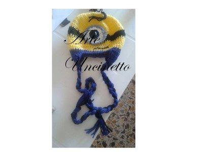 cappello lana minions