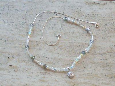 Collana girocollo argento cuore zirconi e cristalli swarovski