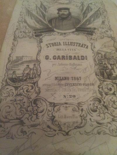 libro datato  1867 Storia illustrata di Giuseppe Garibaldi