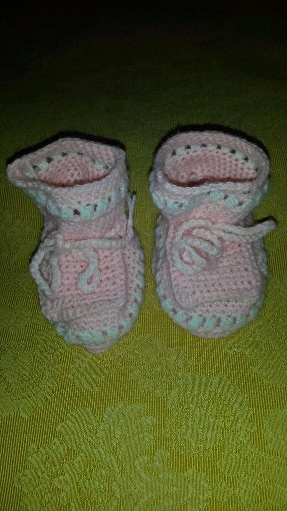 Scarpette rosa e bianche
