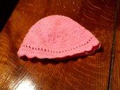 Cappellino bimba rosa