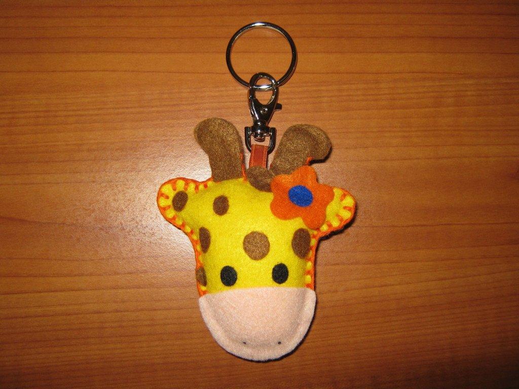 Giraffina portachiavi