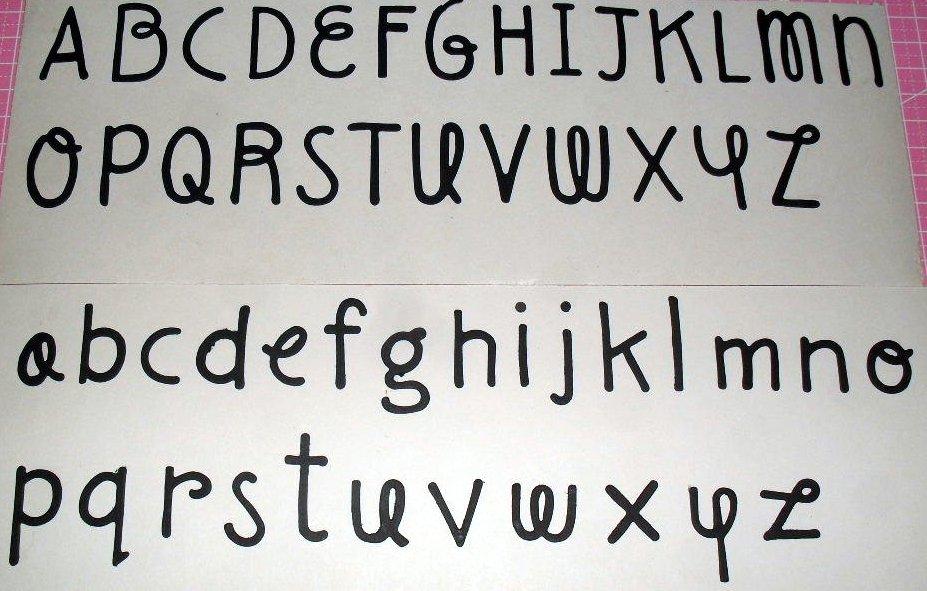 Lettere Maiuscole e Minuscole in Cartoncino FUSTELLATE