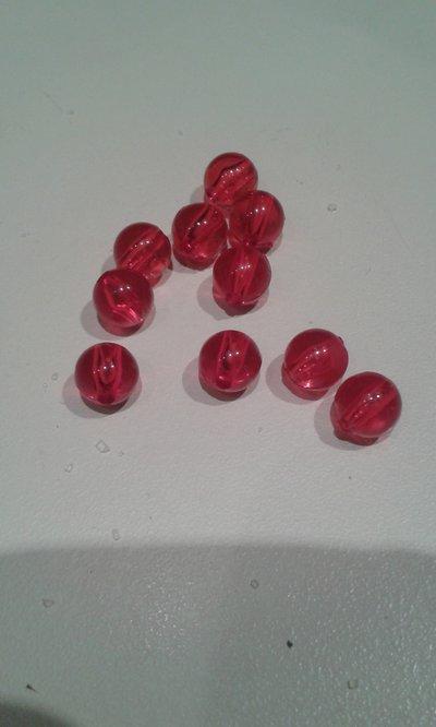 Lotto dieci perle acrilico