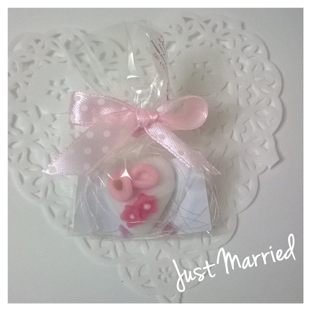 Segnaposto per battesimo, idea nascita, confetti decorati, baby shower, rosa