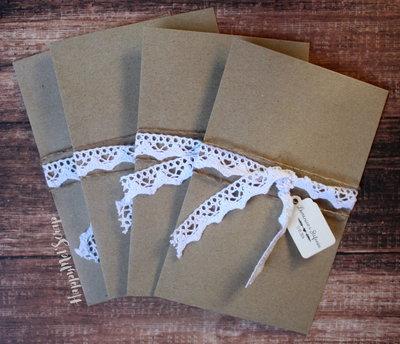 """20 partecipazioni di nozze """"Envelope"""""""