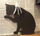 Gatto nero.. chi dice che porta sfortuna!!!! Lavagnetta cucina o cameretta