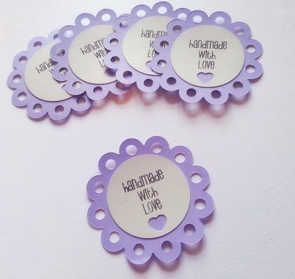 "Etichette ""Handmade with love"" (5 pezzi)"