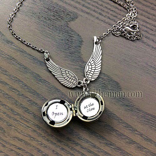 "Harry Potter collana boccino d'oro ""I open... At the Close"""