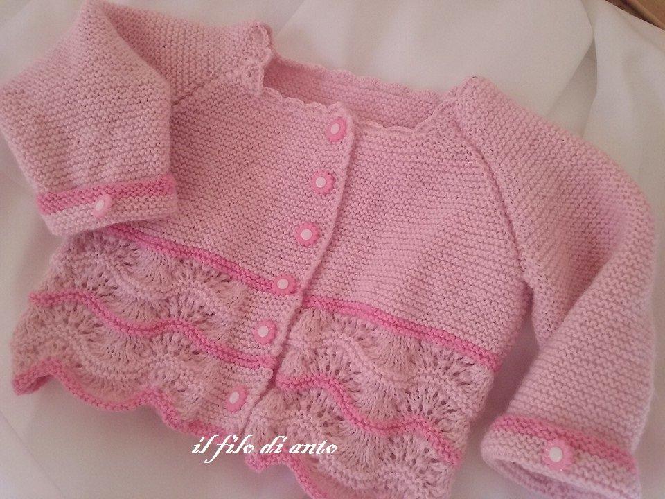 Giacchino/maglietta in rosa e fucsia