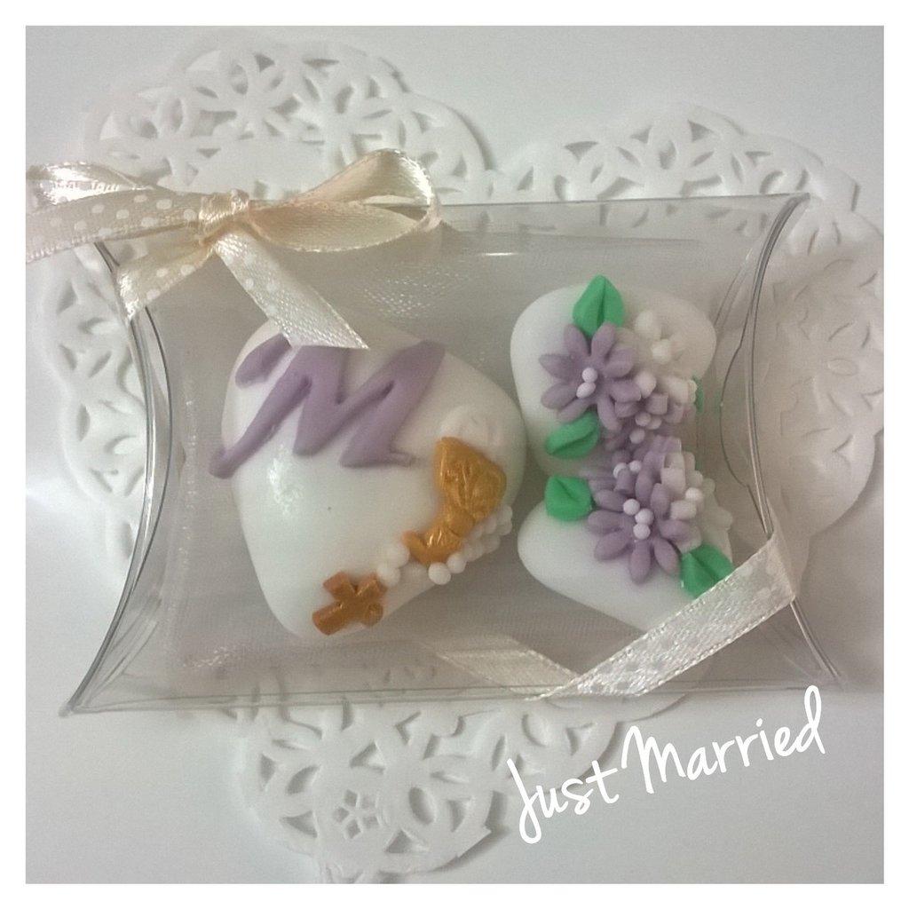 Confettata prima comunione, confetti decorati, glicine