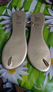 suole sandali uncinetto 38 colore oro