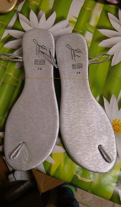 suole sandali uncinetto 26 argento