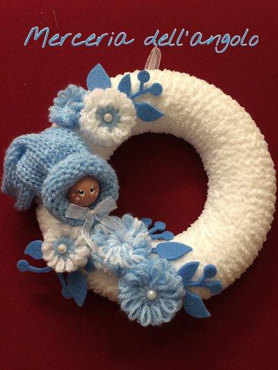 Fiocco nascita bimbo in lana