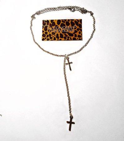 Collana con doppia croce/croci