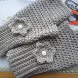 Mezzi guanti,lavorati ad uncinetto