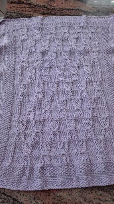 Copertina lana per culla o carrozzina