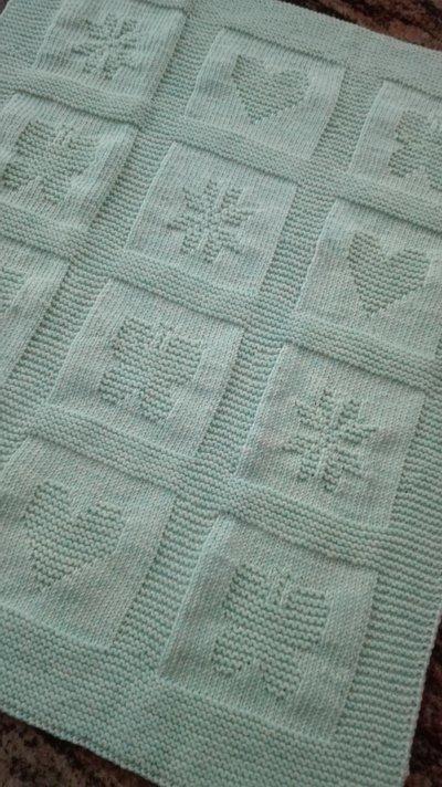 Conosciuto Copertina lana per culla o carrozzina a quadri - Bambini - Per la  XH43