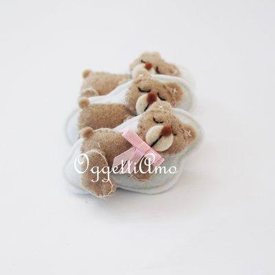 30 orsacchiotti in feltro come bomboniere per il vostro bambino