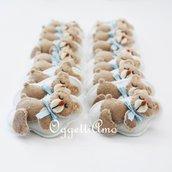 35 orsacchiotti in feltro fatti a mano per le bomboniere del tuo bambino