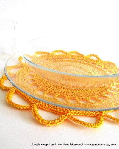 """Pattern - spiegazione per SOTTOPIATTO """"clean & simple"""" a uncinetto crochet (idea regali di Natale)"""