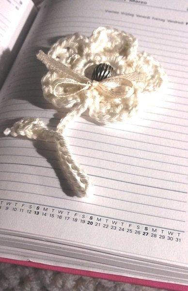 spesso fiore all'uncinetto per bomboniere portaconfetti personalizzabile  JG79