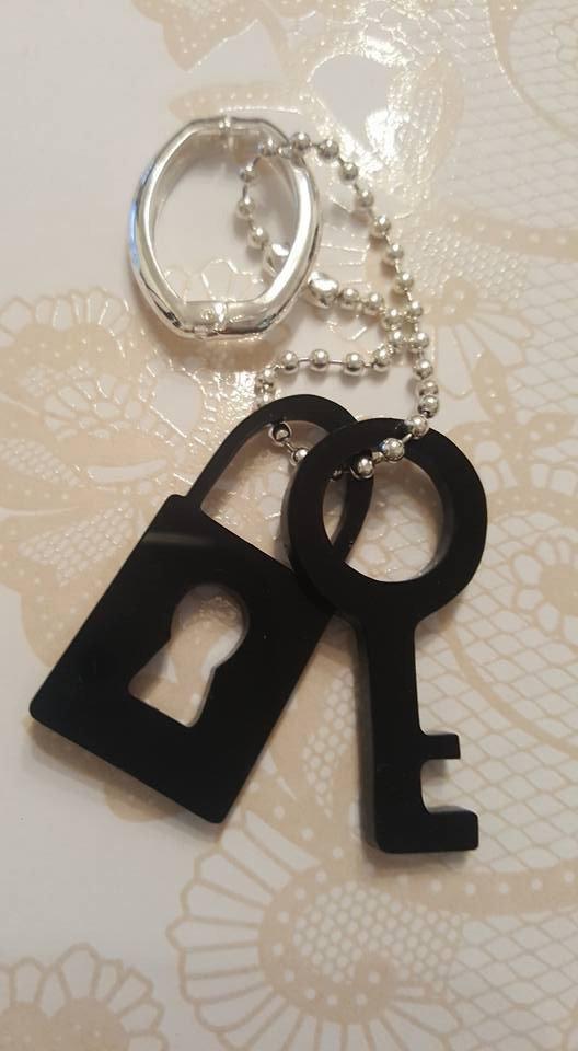 chiave e lucchetto - portachiavi