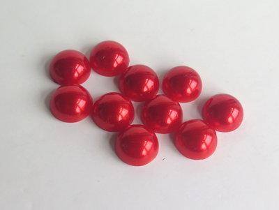 4 Cabochon mezza perla rosso PRL 1