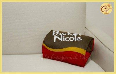 Cuscino Pocket personalizzabile con il nome.