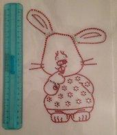 """Applicazione di strass """"coniglietto"""""""