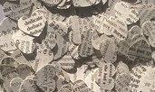 1000 coriandoli cuore vintage, cuori di carta riciclata per coni matrimonio, decorazione tavola
