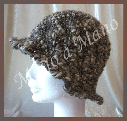 Cappello a cloche - Grigio e bronzo